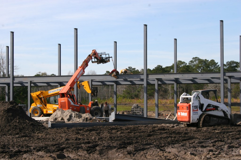 Constructions begins on the Cosmetology / WECHS buildin at CFCC's North Campus.