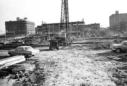 Galehouse building during construction.