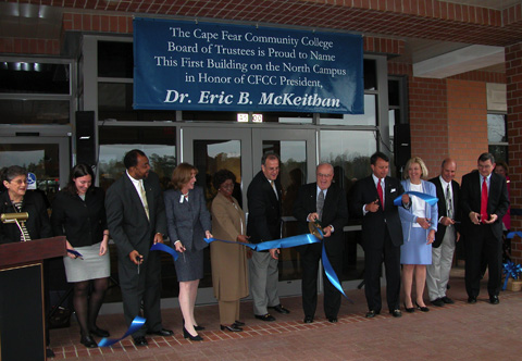 Board of Trustees at the  Ribbon Cutting for the McKeithan Center.