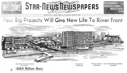 Proposed river front expanasion, 1965.